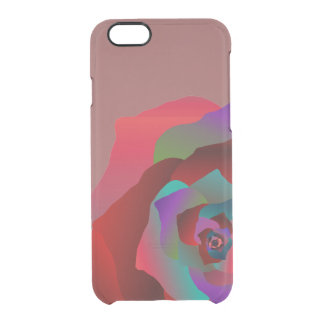Capa Para iPhone 6/6S Transparente Rosa multicolorido,