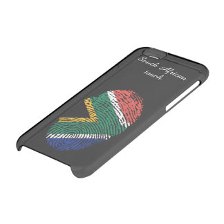Capa Para iPhone 6/6S Transparente Sul - bandeira africana da impressão digital do