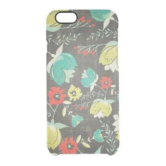 Capa Para iPhone 6/6S Transparente Teste padrão de flores retro colorido abstrato