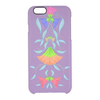 Capa Para iPhone 6/6S Transparente Teste padrão multicolorido, floral,