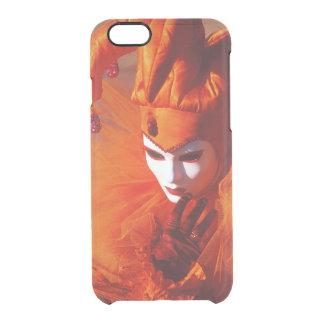 Capa Para iPhone 6/6S Transparente Veneza, Italia (IT) - traje alaranjado do carnaval