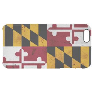 Capa Para iPhone 6 Plus Transparente Bandeira patriótica do estado de Maryland do