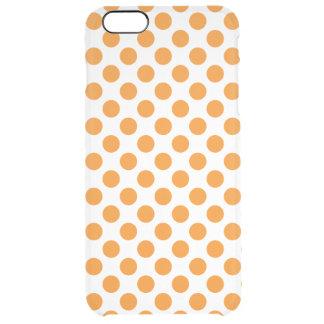 Capa Para iPhone 6 Plus Transparente Bolinhas alaranjadas