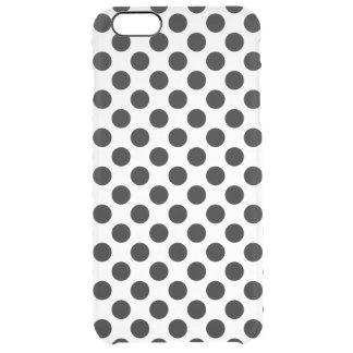 Capa Para iPhone 6 Plus Transparente Bolinhas pretas