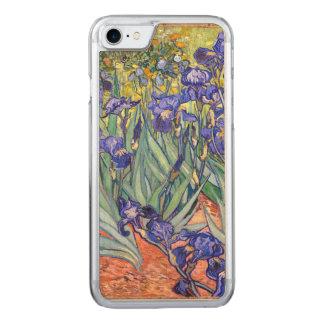 Capa Para iPhone 8/ 7 Carved Belas artes florais do vintage das íris de Vincent
