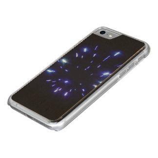 Capa Para iPhone 8/ 7 Carved Fogos-de-artifício que irradiam o azul