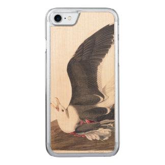 Capa Para iPhone 8/ 7 Carved Gaivota suportada preta da placa 241 de Audubon