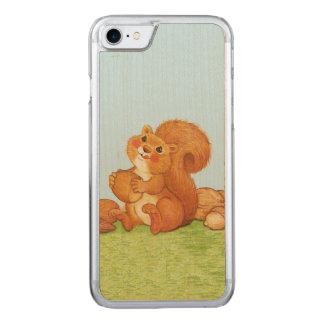 Capa Para iPhone 8/ 7 Carved Loucos de bolotas adoráveis bonitos do esquilo