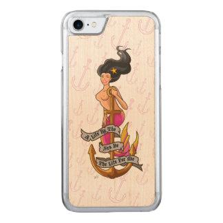 Capa Para iPhone 8/ 7 Carved mermaid_mspink_slimwood