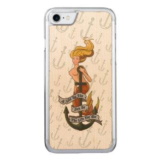 Capa Para iPhone 8/ 7 Carved mermaid_msyellow_slimwood