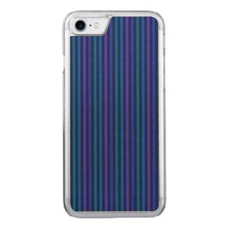 Capa Para iPhone 8/ 7 Carved Roxo do verde azul de listras verticais