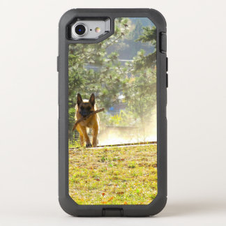 Capa Para iPhone 8/7 OtterBox Defender Caso Running do iPhone 7 do german shepherd
