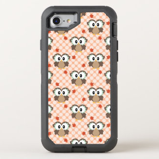 Capa Para iPhone 8/7 OtterBox Defender Coruja da queda das bolinhas de Kawaii