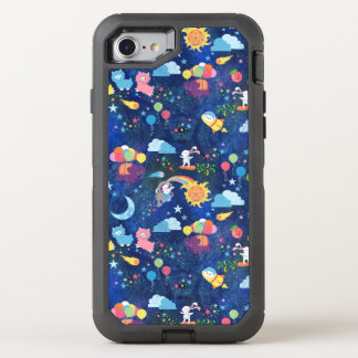 Capa Para iPhone 8/7 OtterBox Defender Kawaii cósmico