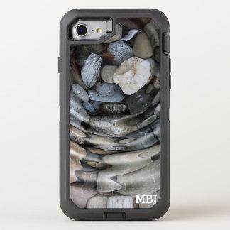 Capa Para iPhone 8/7 OtterBox Defender Monograma subaquático da ondinha das rochas