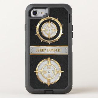 Capa Para iPhone 8/7 OtterBox Defender Ouro e prata náuticos