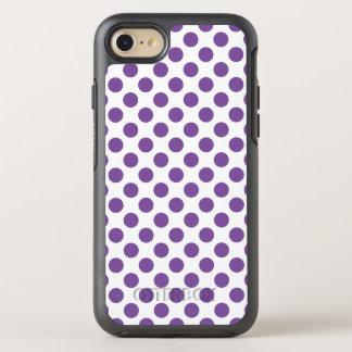 Capa Para iPhone 8/7 OtterBox Symmetry Bolinhas roxas