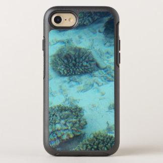 Capa Para iPhone 8/7 OtterBox Symmetry Oceano tropical do azul do recife de corais de