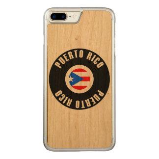 Capa Para iPhone 8 Plus/ 7 Plus Carved Bandeira de Puerto Rico simples