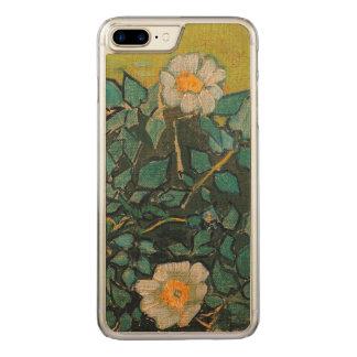 Capa Para iPhone 8 Plus/ 7 Plus Carved Do vintage selvagem dos rosas de Vincent van Gogh