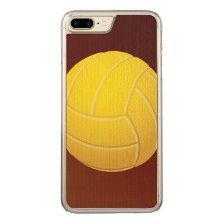 Capa Para iPhone 8 Plus/ 7 Plus Carved Fundo vermelho da terra do voleibol amarelo
