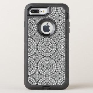 Capa Para iPhone 8 Plus/7 Plus OtterBox Defender Teste padrão Sparkling branco moderno dos círculos
