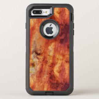Capa Para iPhone 8 Plus/7 Plus OtterBox Defender Vermelhos oxidados abstratos e laranjas