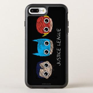 Capa Para iPhone 8 Plus/7 Plus OtterBox Symmetry A mini liga de justiça dirige o esboço