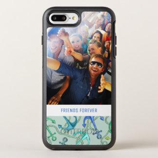 Capa Para iPhone 8 Plus/7 Plus OtterBox Symmetry Âncoras de mar e teste padrão | da corda seus foto