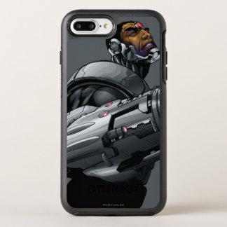 Capa Para iPhone 8 Plus/7 Plus OtterBox Symmetry Busto 2 do Cyborg & da arma