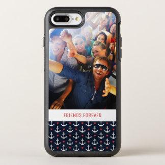 Capa Para iPhone 8 Plus/7 Plus OtterBox Symmetry Corações e teste padrão | das âncoras seus foto &