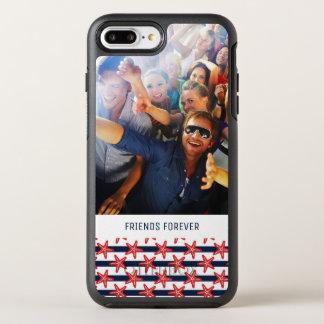 Capa Para iPhone 8 Plus/7 Plus OtterBox Symmetry E teste padrão | das listras seus foto & texto