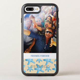 Capa Para iPhone 8 Plus/7 Plus OtterBox Symmetry Estrela do mar azul da aguarela | seus foto &