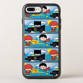 Capa Para iPhone 8 Plus/7 Plus OtterBox Symmetry Flash, superman, e Batman de Chibi que compete o