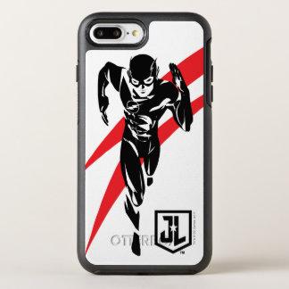 Capa Para iPhone 8 Plus/7 Plus OtterBox Symmetry Liga de justiça | o flash que funciona o pop art