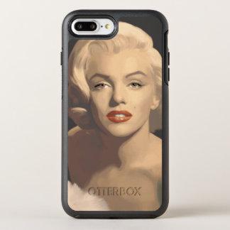 Capa Para iPhone 8 Plus/7 Plus OtterBox Symmetry Marilyn cinzenta gráfica