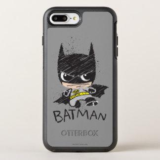 Capa Para iPhone 8 Plus/7 Plus OtterBox Symmetry Mini esboço clássico de Batman