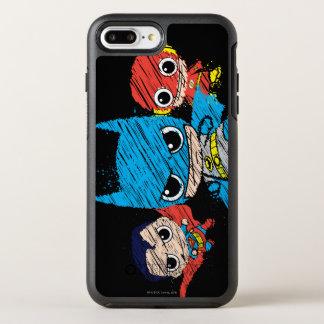 Capa Para iPhone 8 Plus/7 Plus OtterBox Symmetry Mini esboço da liga de justiça