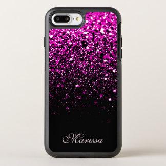 Capa Para iPhone 8 Plus/7 Plus OtterBox Symmetry O brilho cor-de-rosa Sparkles preto