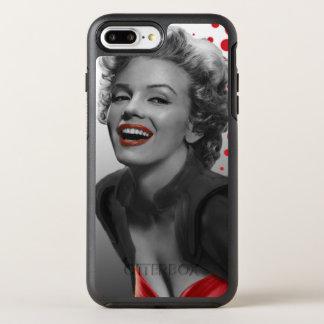 Capa Para iPhone 8 Plus/7 Plus OtterBox Symmetry O vermelho pontilha Marilyn