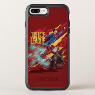 Capa Para iPhone 8 Plus/7 Plus OtterBox Symmetry Superman da liga de justiça |, flash, & crachá de
