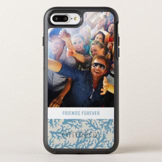 Capa Para iPhone 8 Plus/7 Plus OtterBox Symmetry Teste padrão coral azul | seus foto & texto