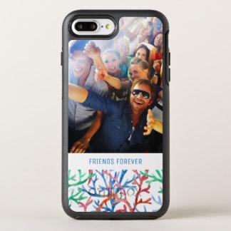 Capa Para iPhone 8 Plus/7 Plus OtterBox Symmetry Teste padrão coral | da aguarela seus foto & texto