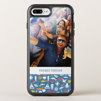 Capa Para iPhone 8 Plus/7 Plus OtterBox Symmetry Teste padrão marinho | dos símbolos seus foto &