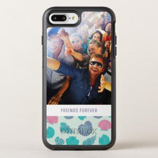 Capa Para iPhone 8 Plus/7 Plus OtterBox Symmetry Teste padrão náutico Pastel | seus foto & texto