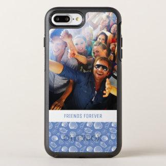 Capa Para iPhone 8 Plus/7 Plus OtterBox Symmetry Teste padrão Sassy | do Seashell seus foto & texto
