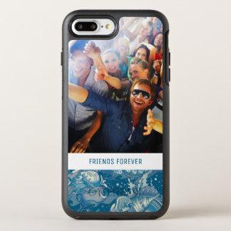 Capa Para iPhone 8 Plus/7 Plus OtterBox Symmetry Teste padrão tropical | do mar seus foto & texto
