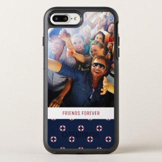 Capa Para iPhone 8 Plus/7 Plus OtterBox Symmetry Teste padrão vermelho e branco | da bóia seus foto