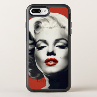 Capa Para iPhone 8 Plus/7 Plus OtterBox Symmetry Vermelho nos lábios vermelhos Marilyn