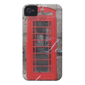 Capa Para iPhone o passaporte carimba a cabine de telefone vermelha